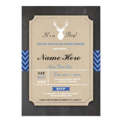 antlers baby shower baby shower invitations | baby shower invitations, Baby shower invitations