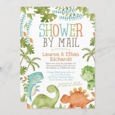Baby Shower by Mail Dinosaur Invitation