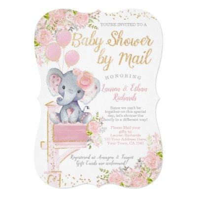 Baby Shower by Mail Elephant Invitation