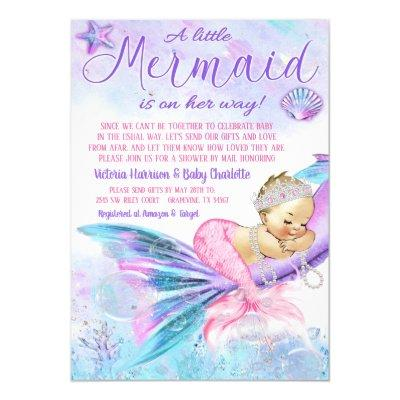 Baby Shower By Mail Mermaid Baby Shower Invitation