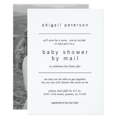 Baby Shower by Mail Minimalist Photo Invitation