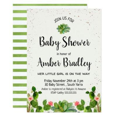 baby shower cactus fiesta invitation baby shower invitations