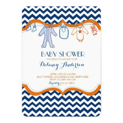 Baby Shower Clothesline Invitations