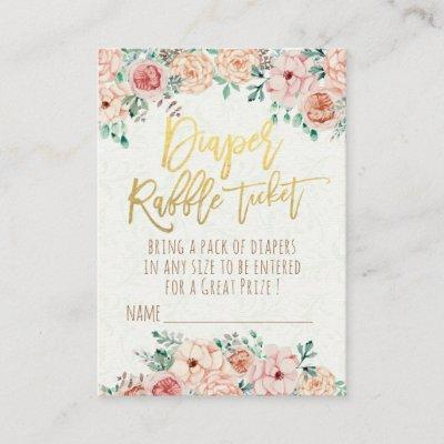 Vintage floral baby shower invitations baby shower invitations baby shower diaper raffle ticket watercolor floral enclosure card filmwisefo