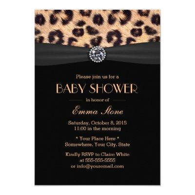 Leopard baby boy shower invitations baby shower invitations baby baby shower elegant leopard print pattern invitations filmwisefo Gallery