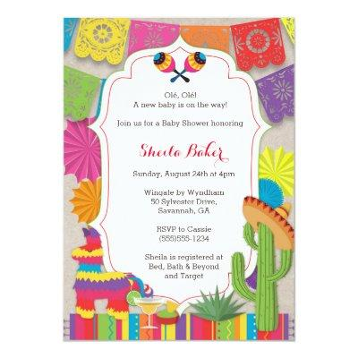 Baby Shower Fiesta! Mexican Themed Shower Invite