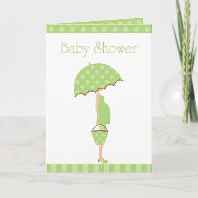 Baby Shower Folded Card Invitation