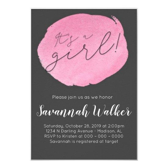 Baby Shower | Girl Baby Shower Invitation