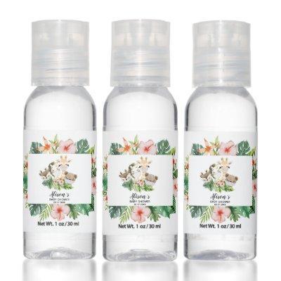 Baby Shower Hand Sanitizer Bottles Safari Friends