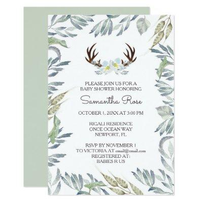 Baby Shower Invitations Boy, Rustic
