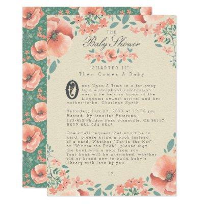 BABY SHOWER INVITATION | Vintage Floral Storybook