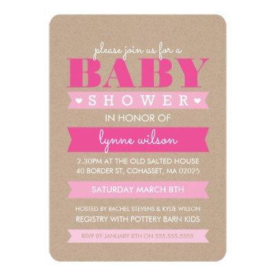 baby shower invitation rustic baby shower invitations | baby, Baby shower invitations