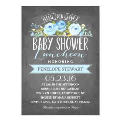 Baby Shower Luncheon Blue | Baby Shower Invitation