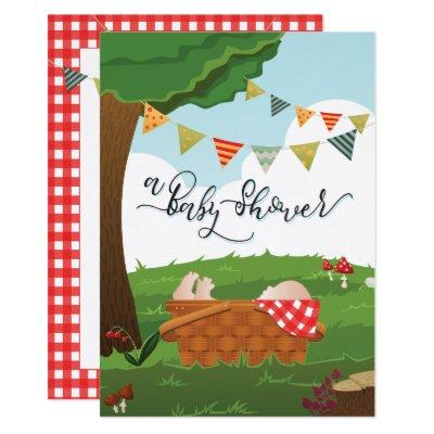 Baby Shower Picnic/BBQ/Woodland Invitations