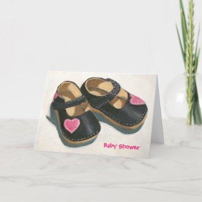 BABY SHOWER, SHOES WITH HEARTS Invitations