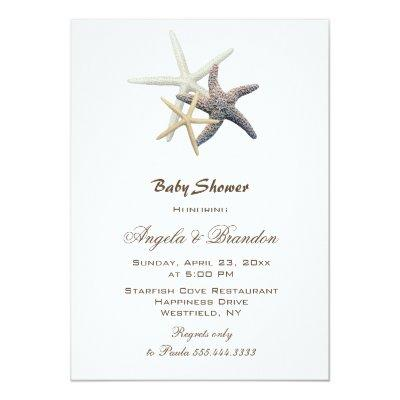 Baby Shower Starfish Family Custom Invitations