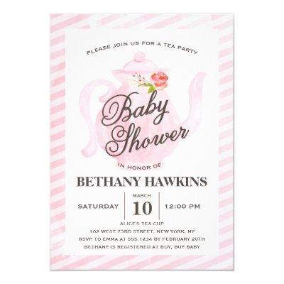Baby Shower Tea Party | Baby Shower Invitations