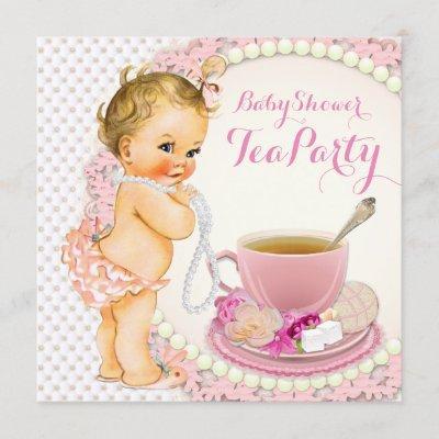 Baby Shower Tea Party Invitation