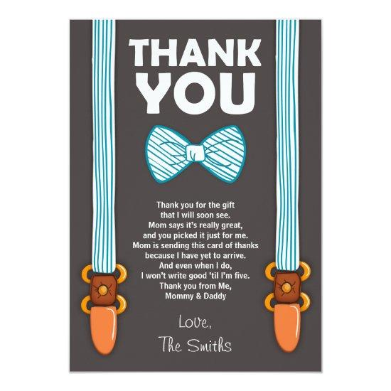 Baby Shower Thank You Invitations Little Man