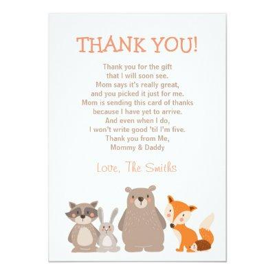 Baby Shower Thank You Invitations Woodland