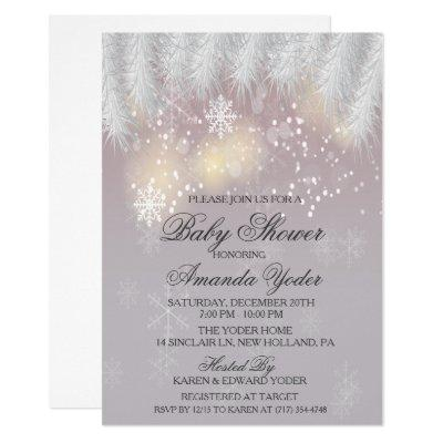 Baby Shower Winter Snowflake Invitations