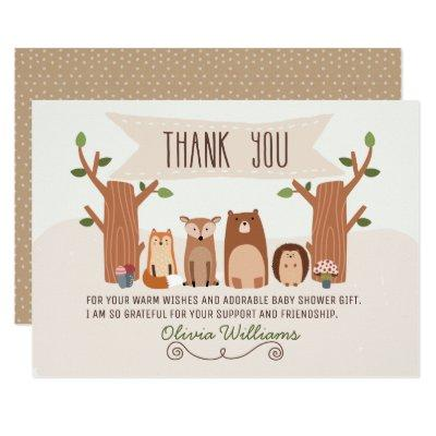 Baby Shower Woodland Animals Thank You Invitations