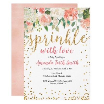 Baby Sprinkle Invitation Card Floral