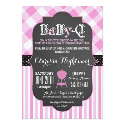 Babyq BBQ Invitations couples girl pink