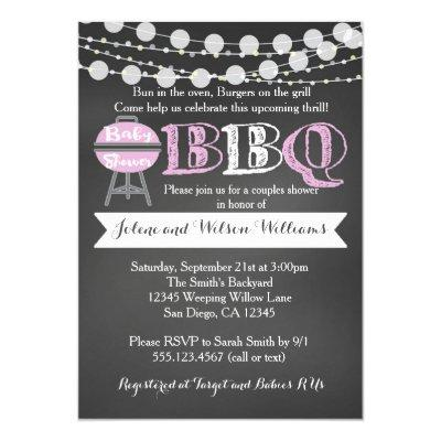 BaByQ Couples Baby Shower Girl Invitations