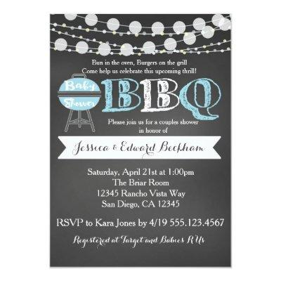 BaByQ Couples Baby Shower Invitations