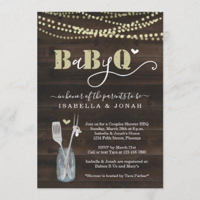 BabyQ Invitation - Couples Baby Q Barbeque