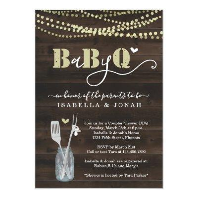 BabyQ Invitation - Couples Baby Q Barbeque