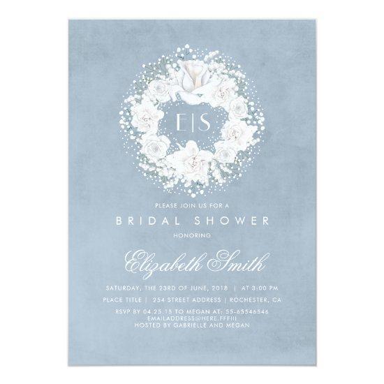 b3b5dff8d75a Baby s Breath Dusty Blue Floral Bridal Shower Card