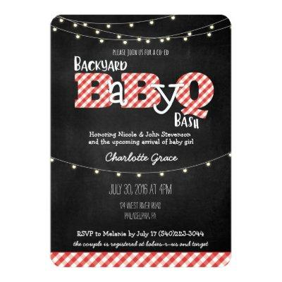 Backyard BaByQ Bash BBQ Baby Shower Invitations