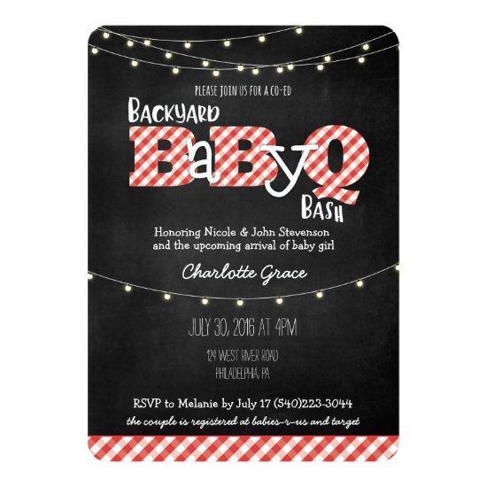 Backyard BaByQ Bash BBQ Baby Shower Invitations