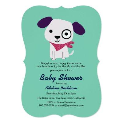 Bandana Doggy Baby Shower Invitations
