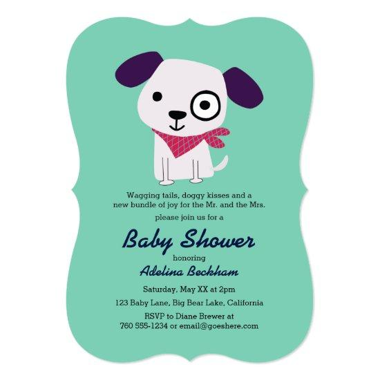 Bandana Doggy Baby Shower Invitations Baby Shower Invitations