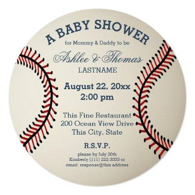 Baseball Baby Shower Invitations