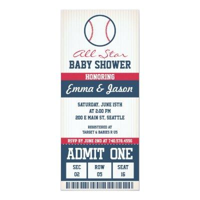 Baseball Baby Shower Invitations
