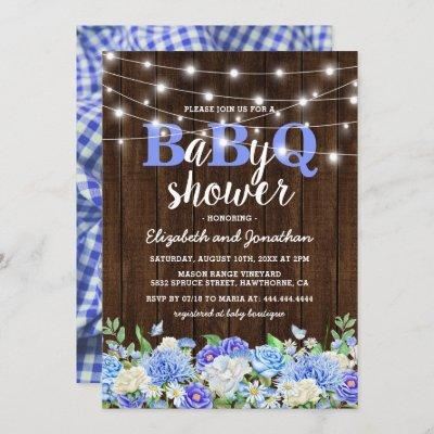 BBQ Baby Couples Shower | Boy BaByQ Barbecue Invitation