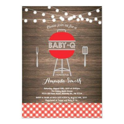 BBQ Baby Shower Invitations Baby Q Backyard Bash