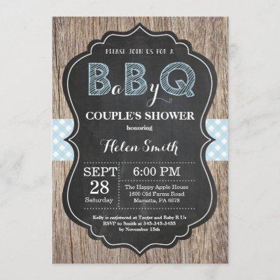 BBQ Baby Shower Invitation Baby Q Backyard Boy