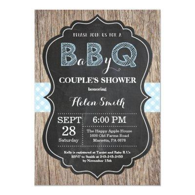 BBQ Baby Shower Invitations Baby Q Backyard Boy