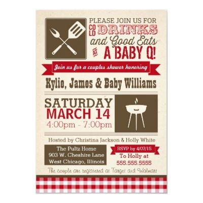 Couples Western Baby Shower Baby Shower Invitations Baby Shower