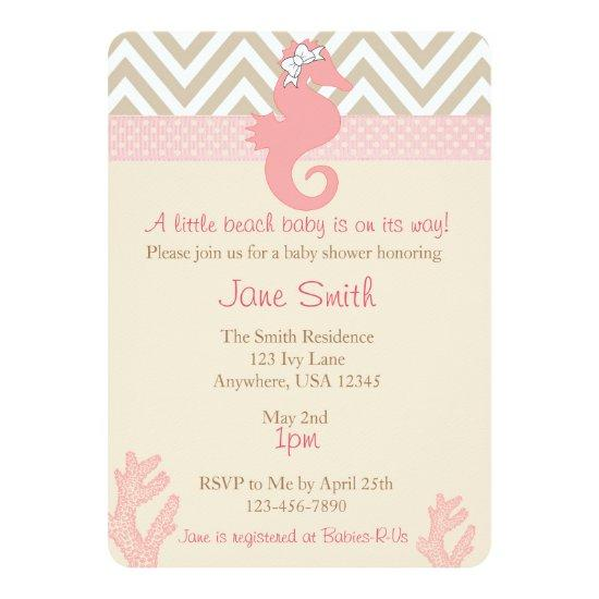 baby shower beach invitations baby shower invitations | baby, Baby shower invitations