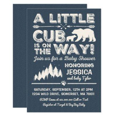 Bear Baby Shower Invitations Adventure Baby Shower