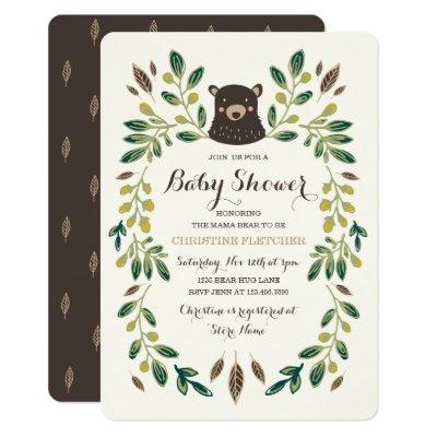 Bear Cub Baby Shower Invitations