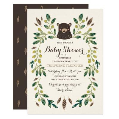 Bear Cub Baby Shower Invitations