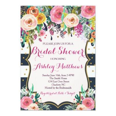 Beautiful Floral , Baby Invitations