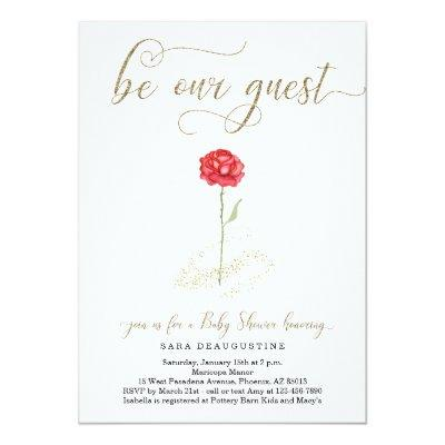 Beauty & the Beast Baby Shower Invitation
